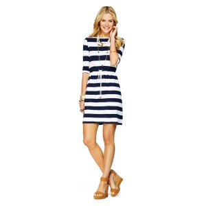 C Wonder - Striped Knit Drawstring Dress/$68