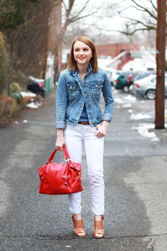 Love this outfit from Poor Little It Girl. A classic color combination and a great jean jacket. 'Nuff said.