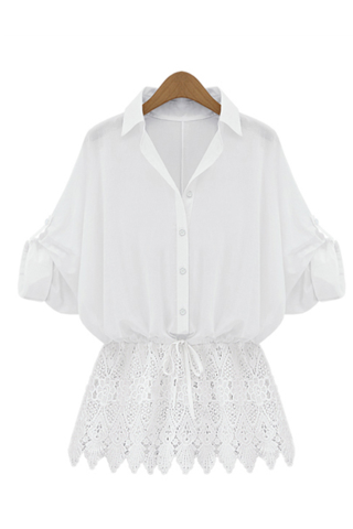 White Scalloped Lace Shirt from Goodnight Macaroon